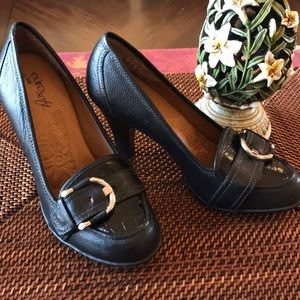 Eurosoft by Sofft Black Heeled Loafers